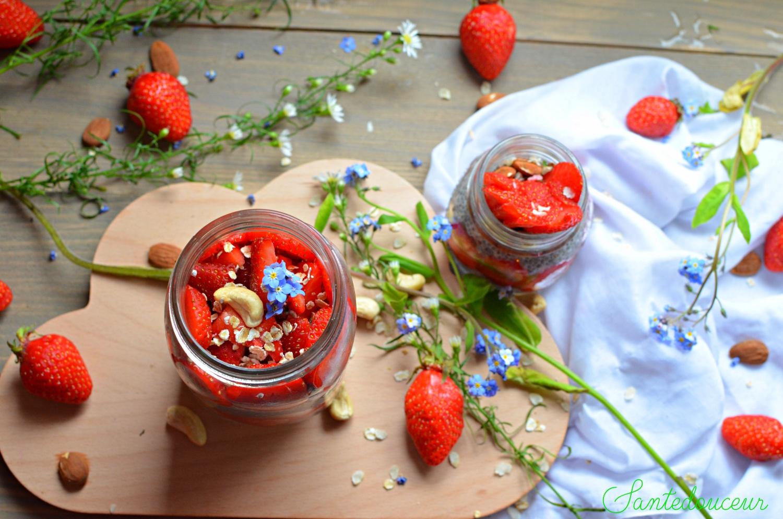 Chia Pudding à la fraise